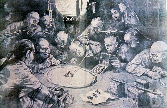 Бой сверчков в Китае